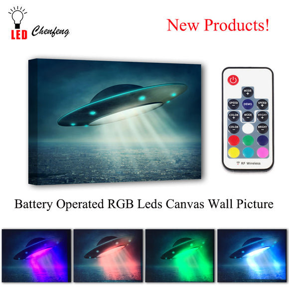 Space Collection - LED Canvas Wall Art - RockyTrade.net
