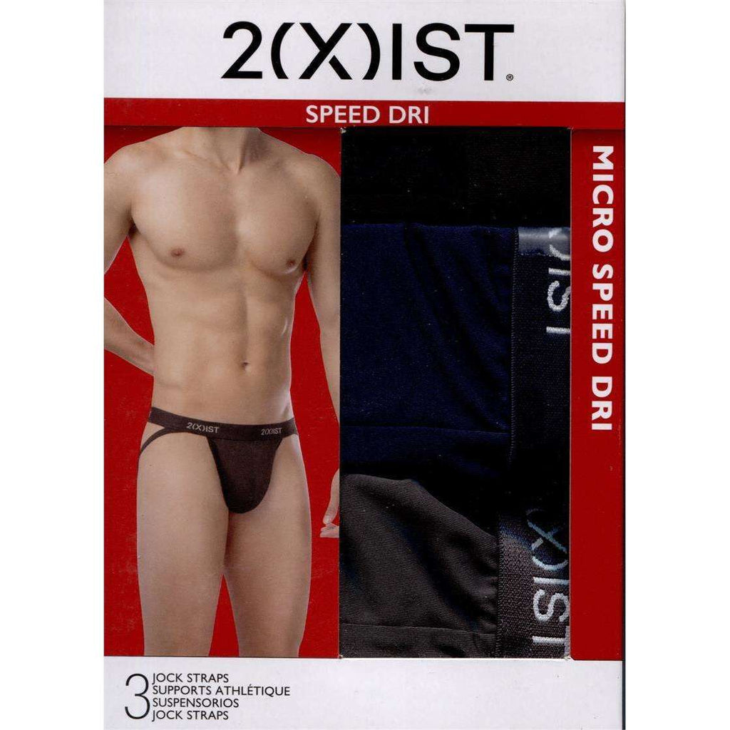 2XIST Micro Speed Dri Jock Strap 3-Pack - Black/Charcoal/Navy