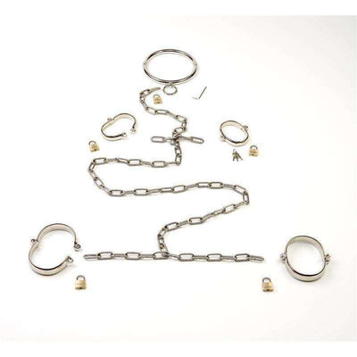 5 Piece Stainless Steel Restraint Set - Large