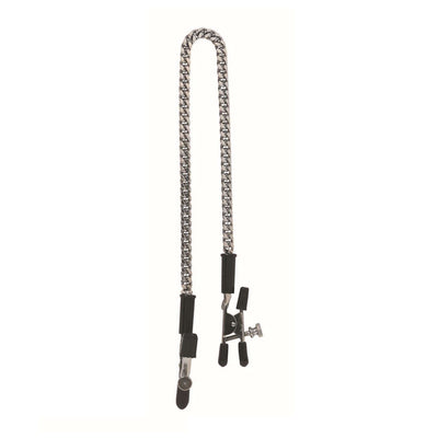 Adjustable Alligator Nipple Clamps with Chain