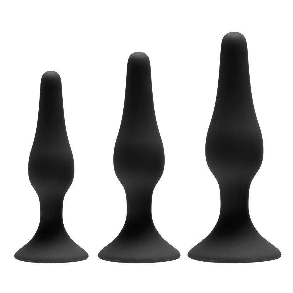 Apprentice 3-Piece Silicone Anal Trainer Set Butt Plug Set