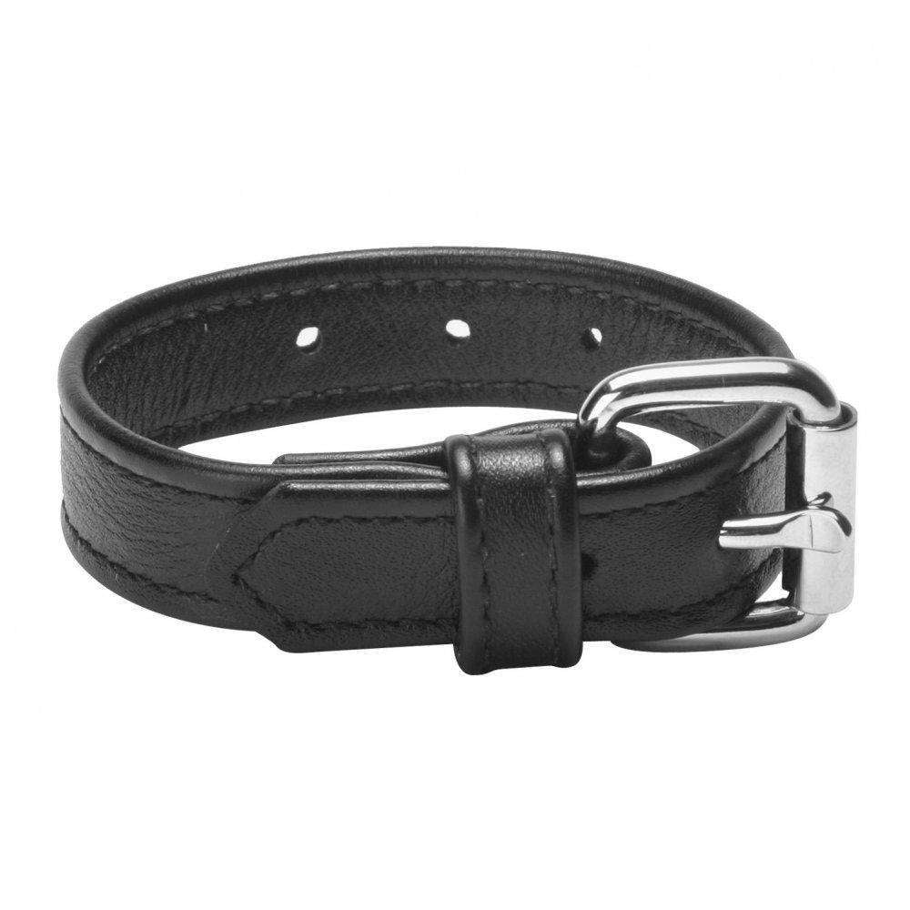 Black Leather Buckle Cock Ring