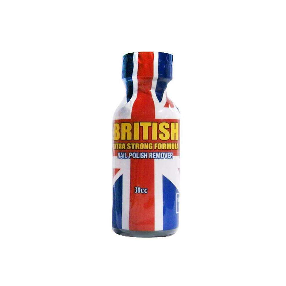 British Extra Strong Formula Nail Polish Remover 1 oz - UPS Ground Shipments Only