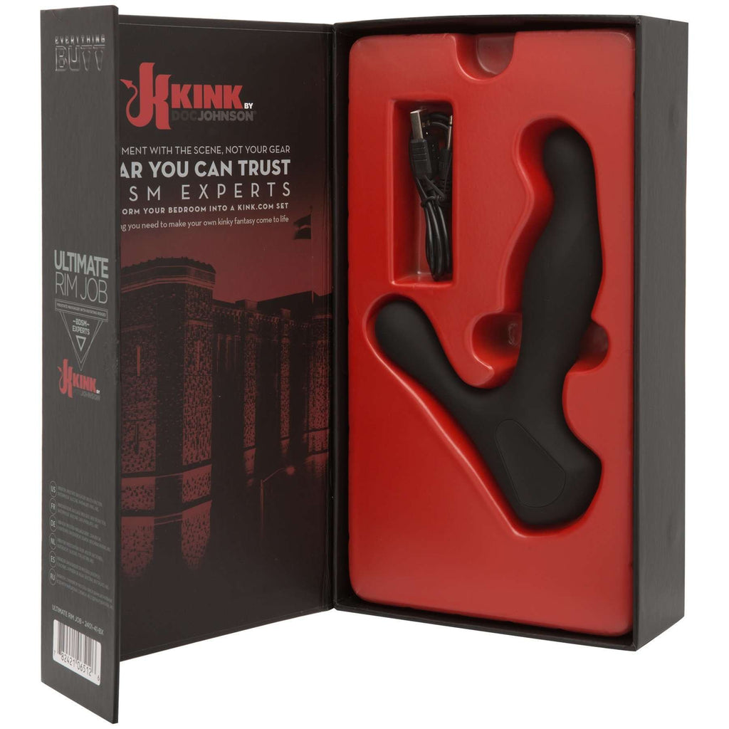 KINK - Ultimate Rim Job - Silicone Prostate Massager with Rotating Ridges
