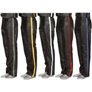 Leather 5-Pocket Zipper Fly Jean Pants With Colored Stripe - Limited Sizes and Colors