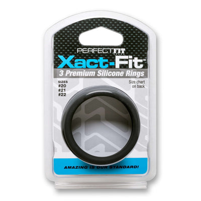 Perfect Fit Brand - Xact-Fit Soft Touch Silicone Cockrings  #20, #21, & #22 - Set of 3