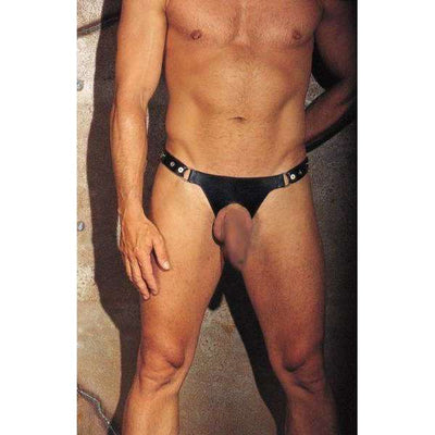 Rimba - Leather Front Open Hole Thong
