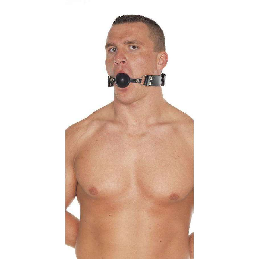Rimba - Leather Gag With Rubber Ball
