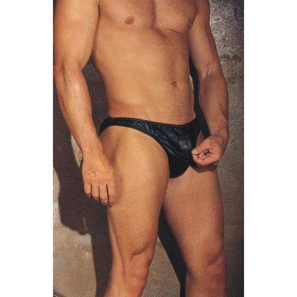Rimba - Leather Zip Front Briefs