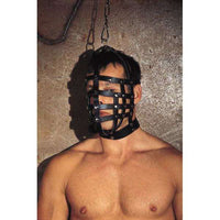 Rimba - Real Leather Muzzle Mask With Hanging Ring