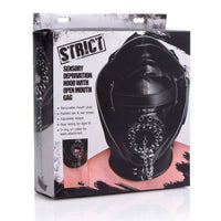 Strict - Sensory Deprivation Hood with Open Mouth Gag