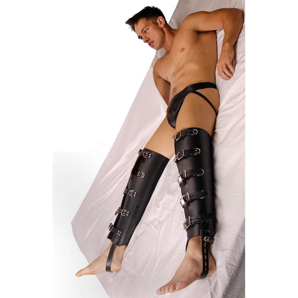 Strict Leather Buckle Leg Binders