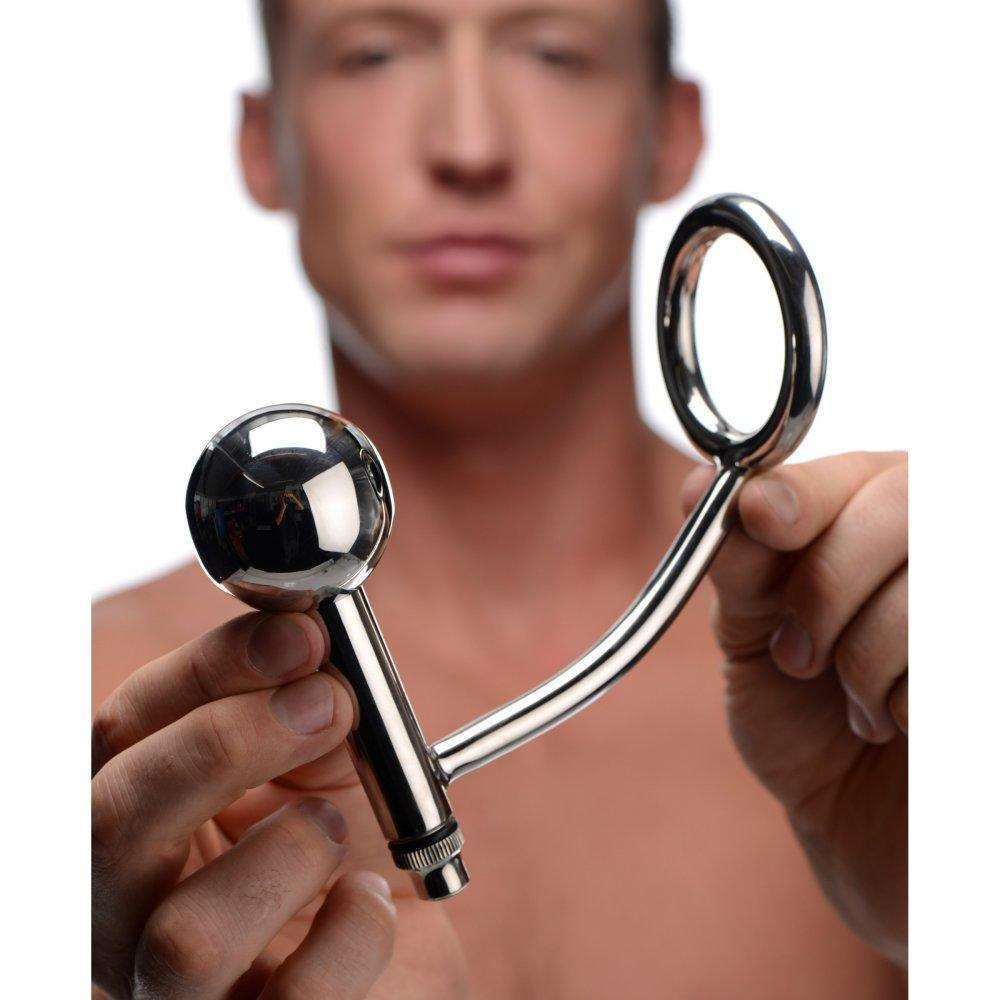 Surgical Stainless Steel Vibrating Cock and Ass Hitch