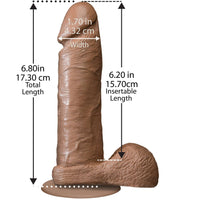 "The Realistic Cock 6"" Dildo with Removable Vac-U-Lock Suction Cup"