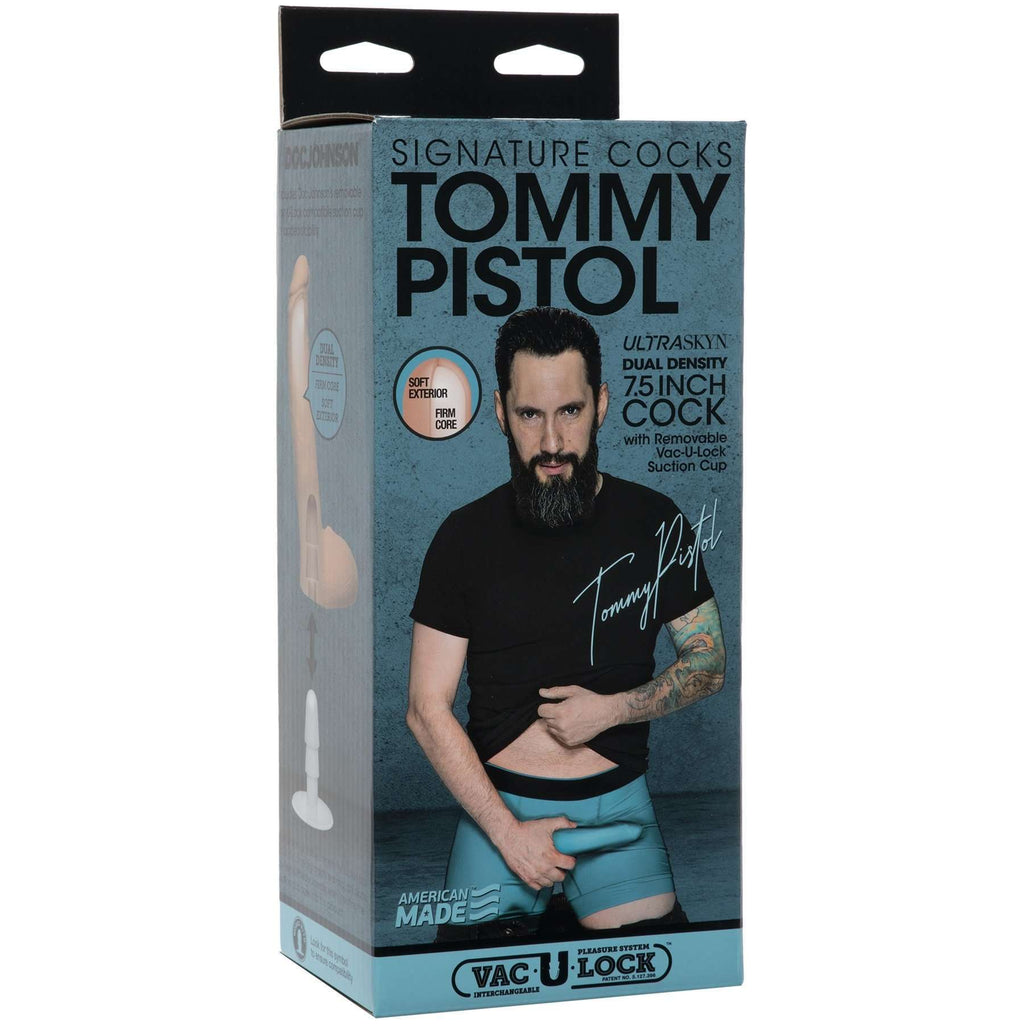 "Tommy Pistol Nice 7.5"" Cock Ultraskyn Dildo - Signature Cocks"