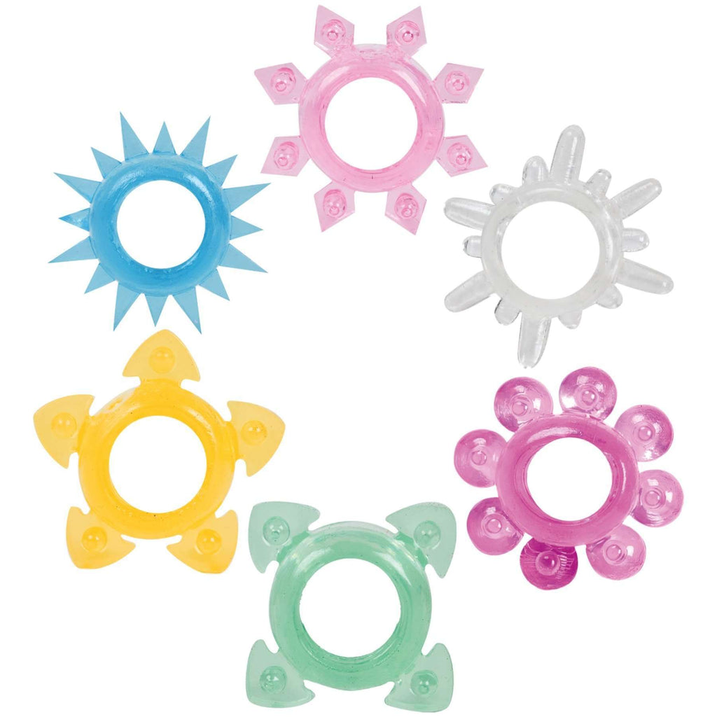 Tower Of Power 6 Piece Cock Ring Set