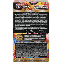 Trojan Nirvana Collection - 10 Lubricated Latex Condoms
