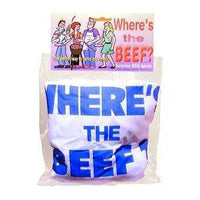 Where's The Beef Apron White