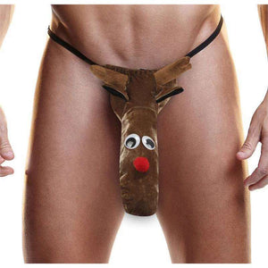 XXXMas Thong - Reindeer - Fundies - Men's Novelty Christmas Underwear