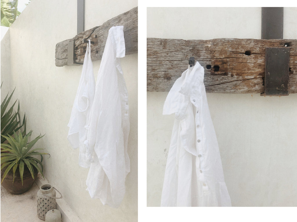UNIK by us Byron shirt white linen
