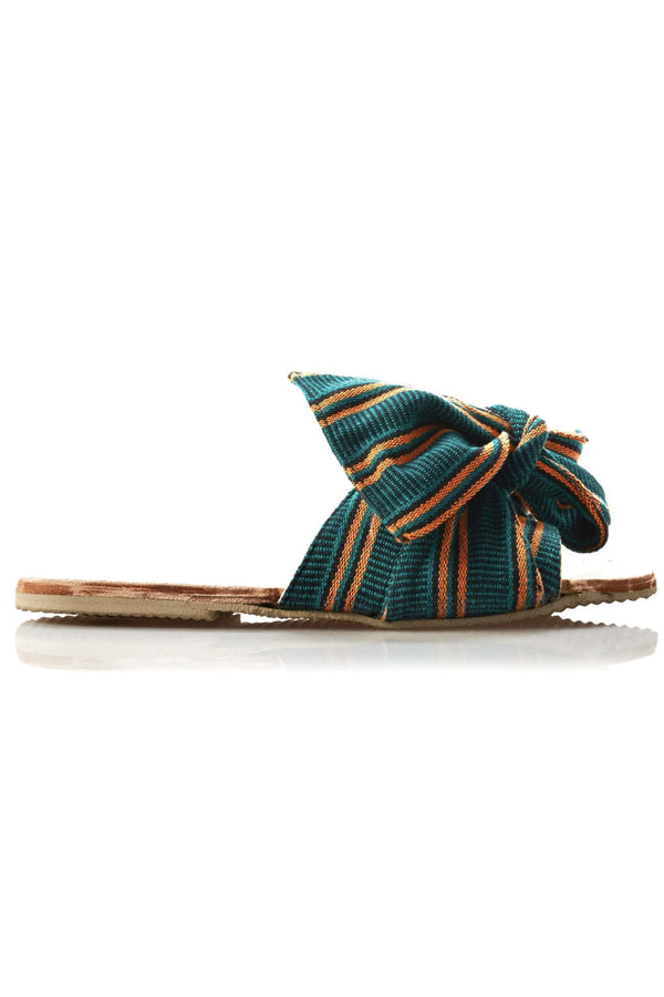 Burkina Slides - Verde Stripe