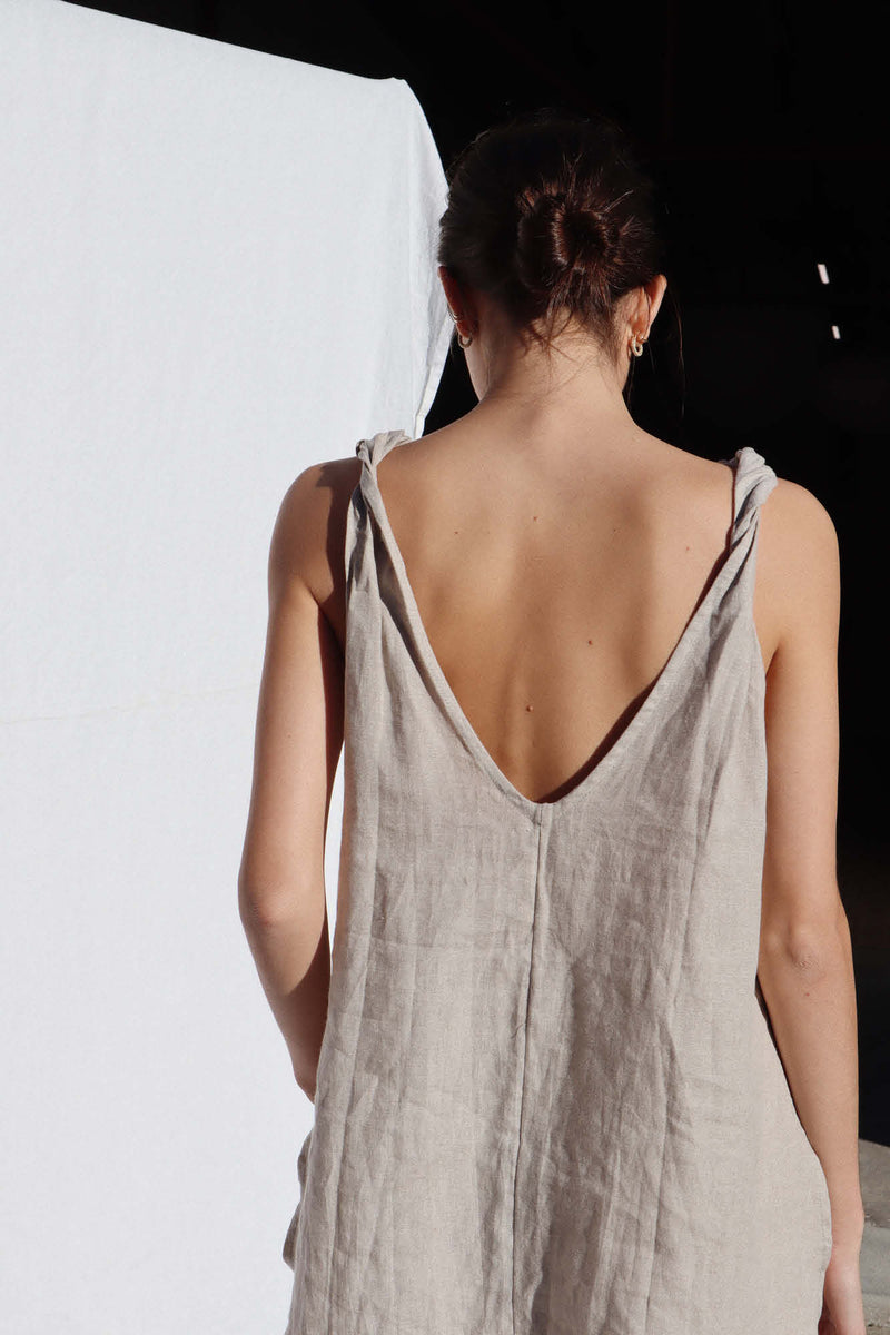 Burns Twisted Strap Top - Sand