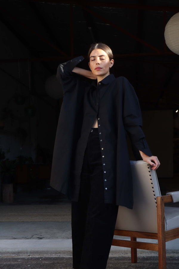 Oscar Oversized Shirt - Black