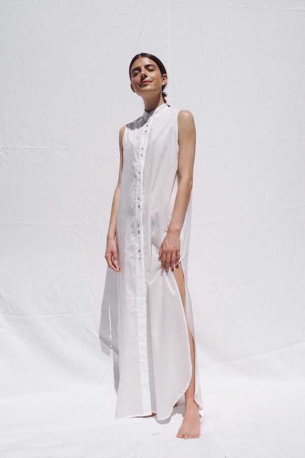 UNIK by us Bronte Shirt Dress in White