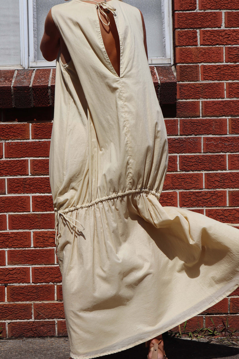 Angy Drawstring Dress - Italian Straw