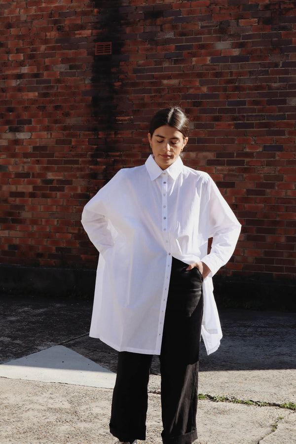 Oscar Oversized Shirt - White