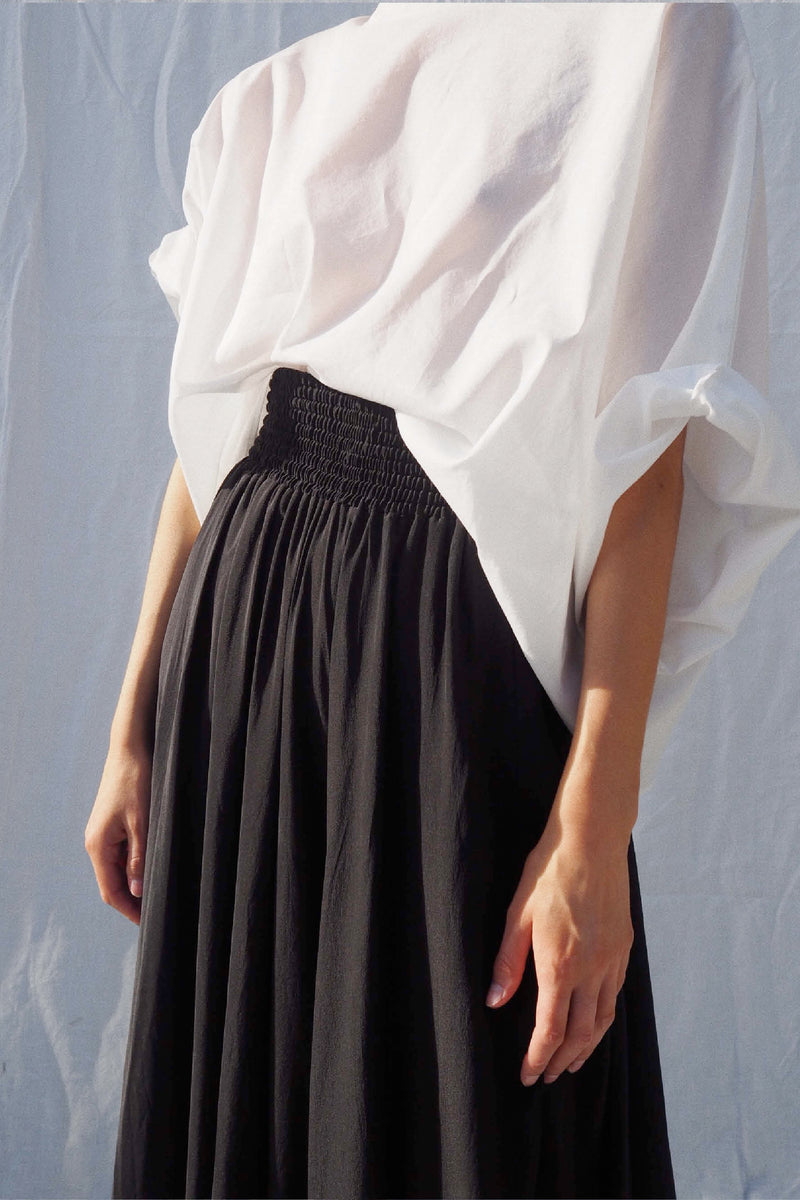 UNIK by us Ulla Silk Skirt in Black
