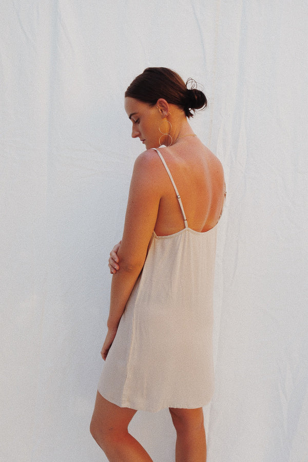 Percy Short Slip Dress - Nude