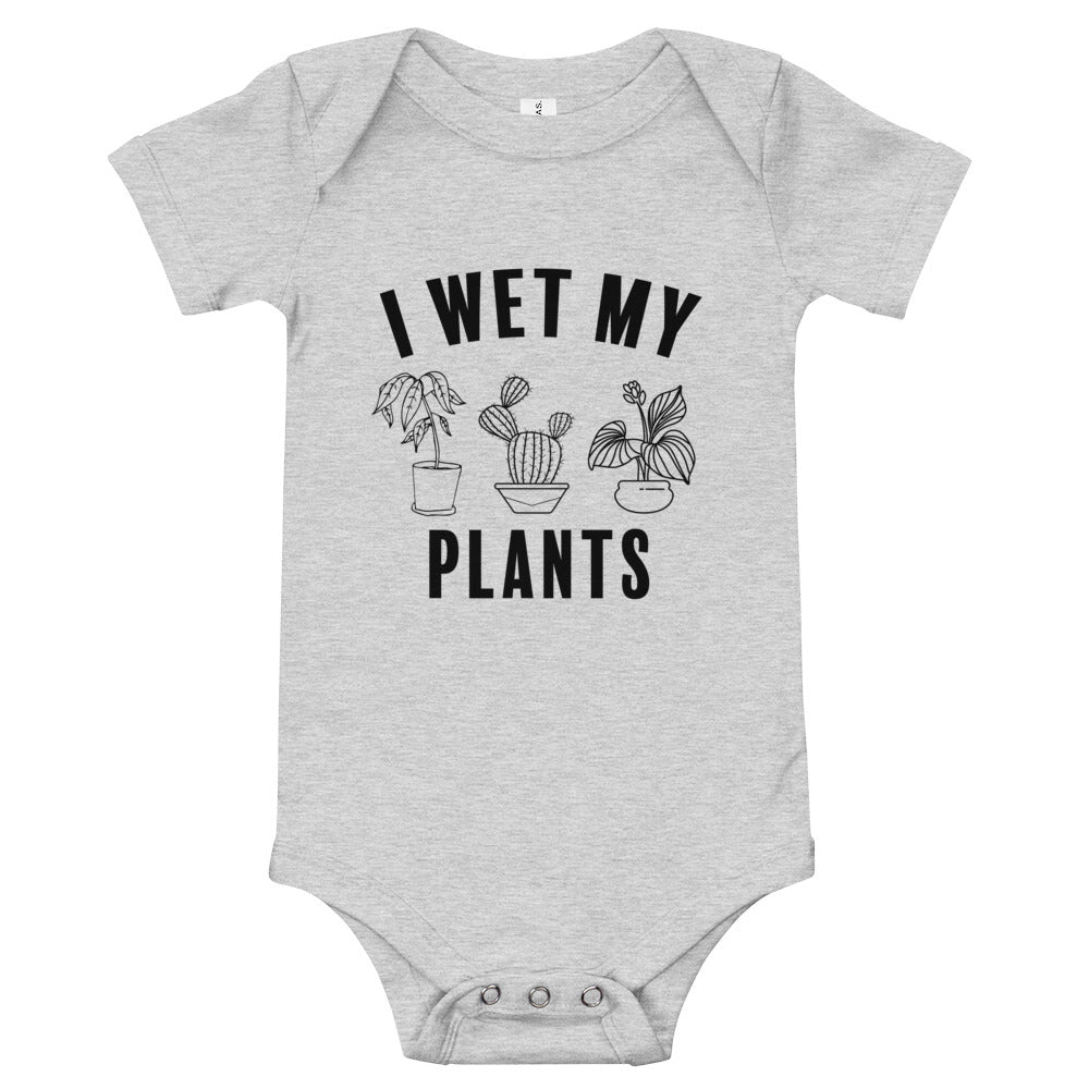 I Wet My Plants Baby Onesie