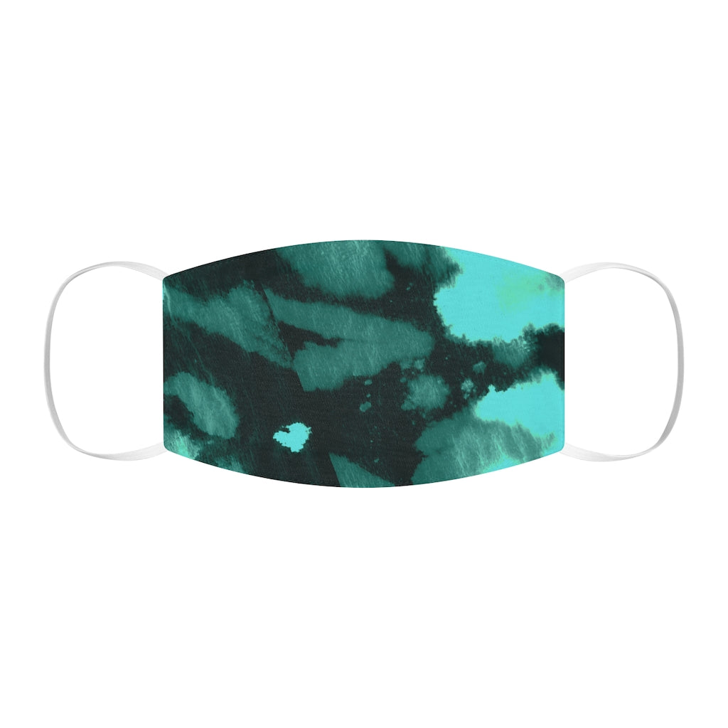 Abstract Face Mask | Deep Green River