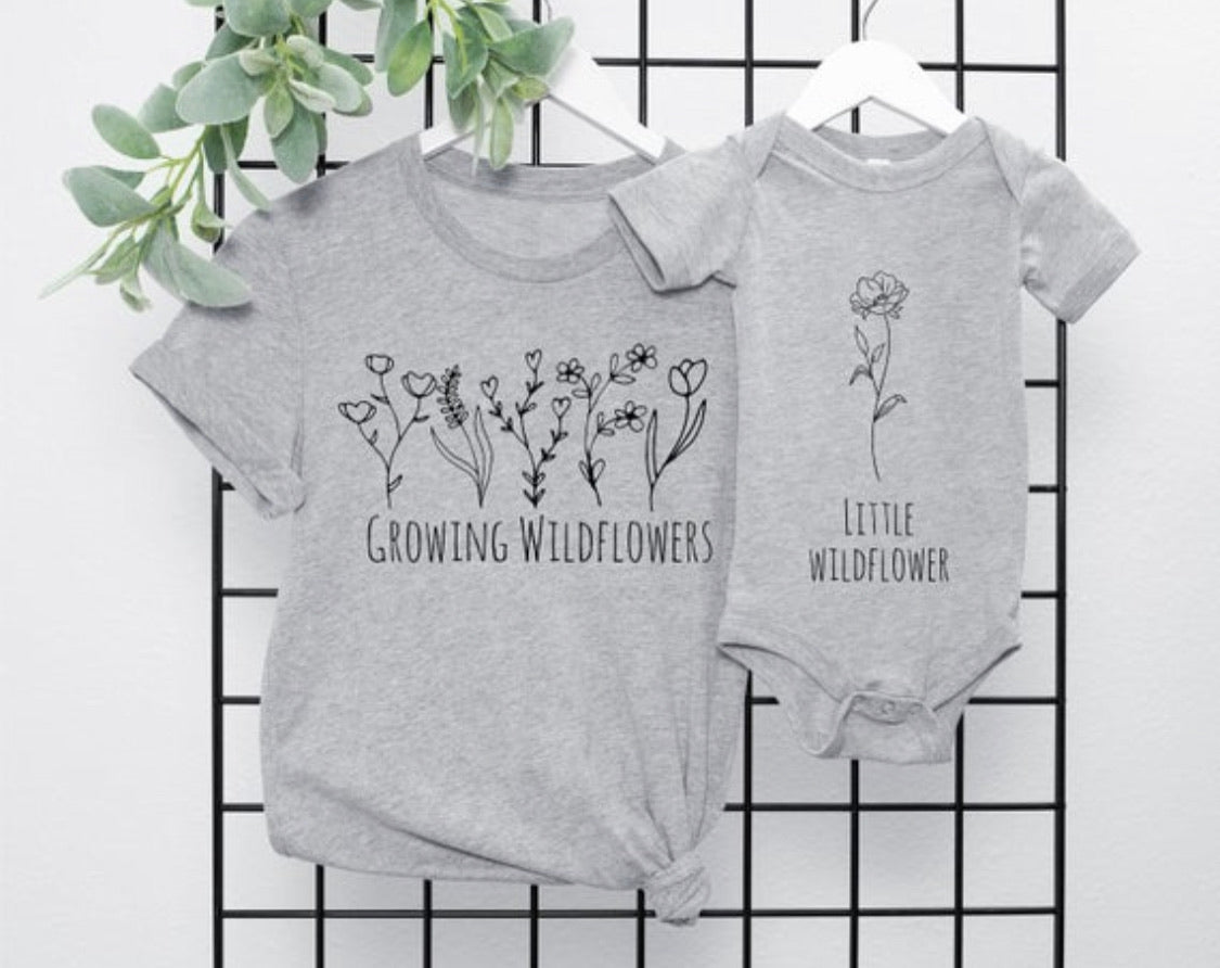 Mommy and Me Matching Tops | Growing Wildflowers / Little Wildflower