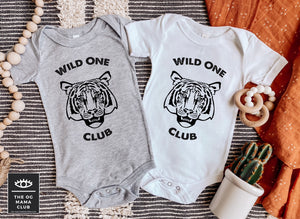 Wild One Club Onesie | Tiger Club Toddler Shirt