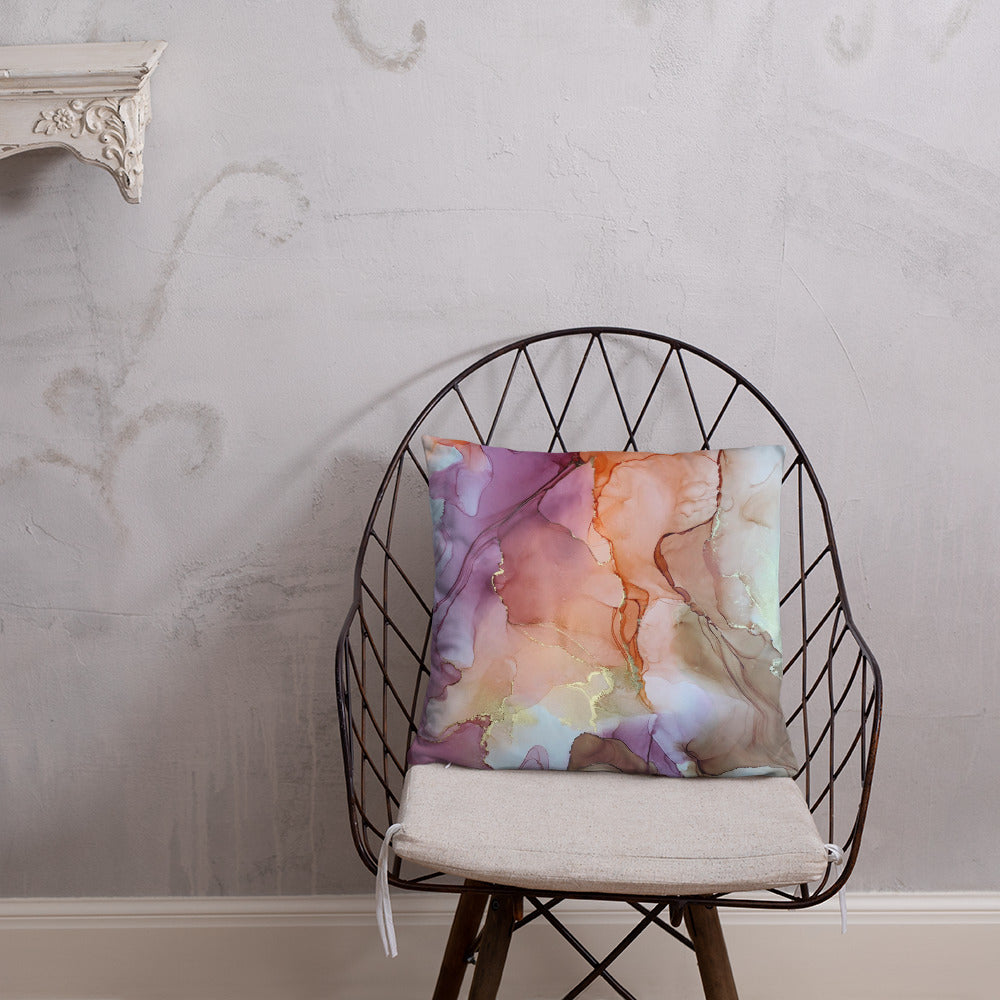 """Falling For You"" Abstract Throw Pillow"