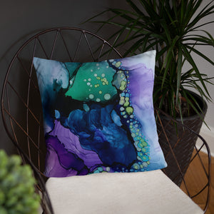 """Evanescent"" Abstract Throw Pillow"