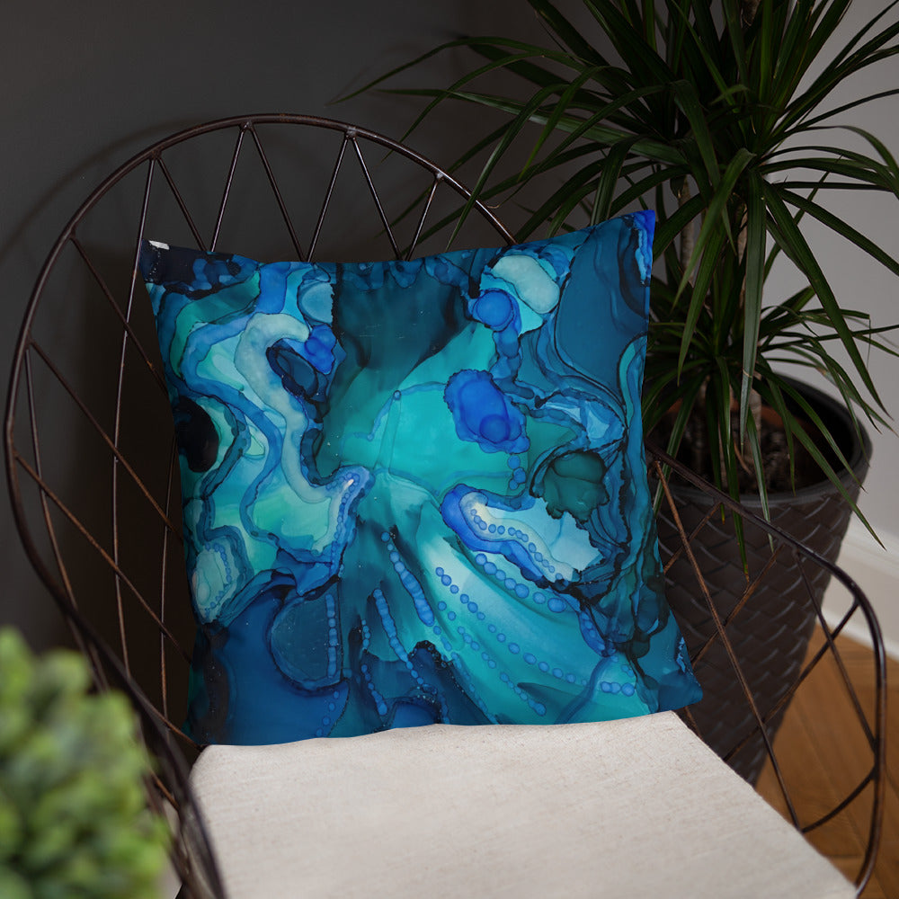 """Emergence II"" Abstract Throw Pillow"