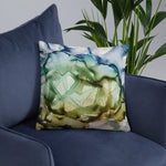 """New Moon Rising"" Abstract Throw Pillow"