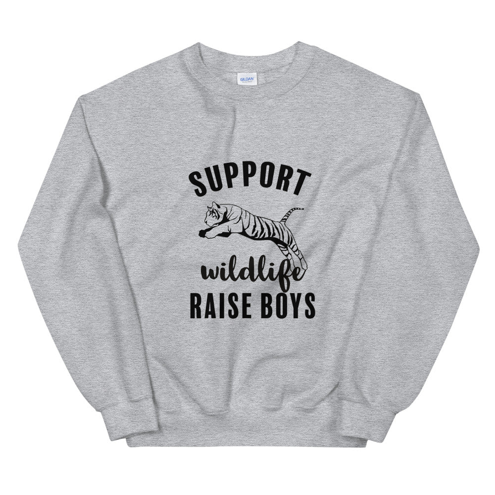 Support Wildlife Raise Boys Sweatshirt
