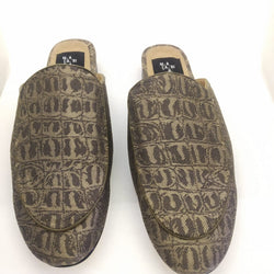 Slipper café print croco