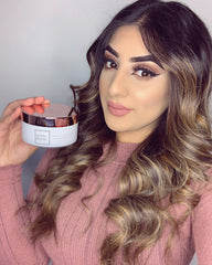 @aiisha.zxman influencer photo with Pretty Glossy Magic Hair Rescue masque