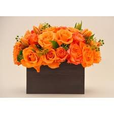 1 dozen Orange Roses in a Box