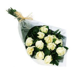 1 dozen White Holland Roses
