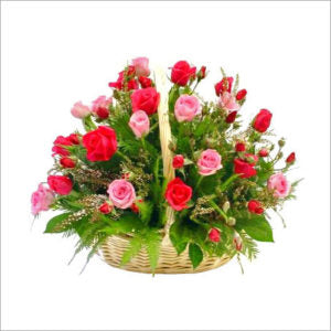 2 Dozen Rose Flower Basket