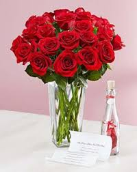 2 dozen Holland Rose with Message in a Bottle