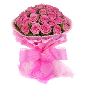 2 dozen Pink Holland Rose in a Bouquet