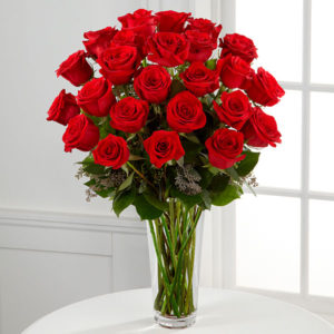 2 dozen Red Holland Roses in a Vase