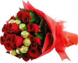 2 dozen Red Roses with 16 pcs Ferrero Rocher